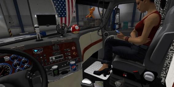 freightliner cascadia v 2 1 3 sisl scs cabin accessories addon ats american truck simulator