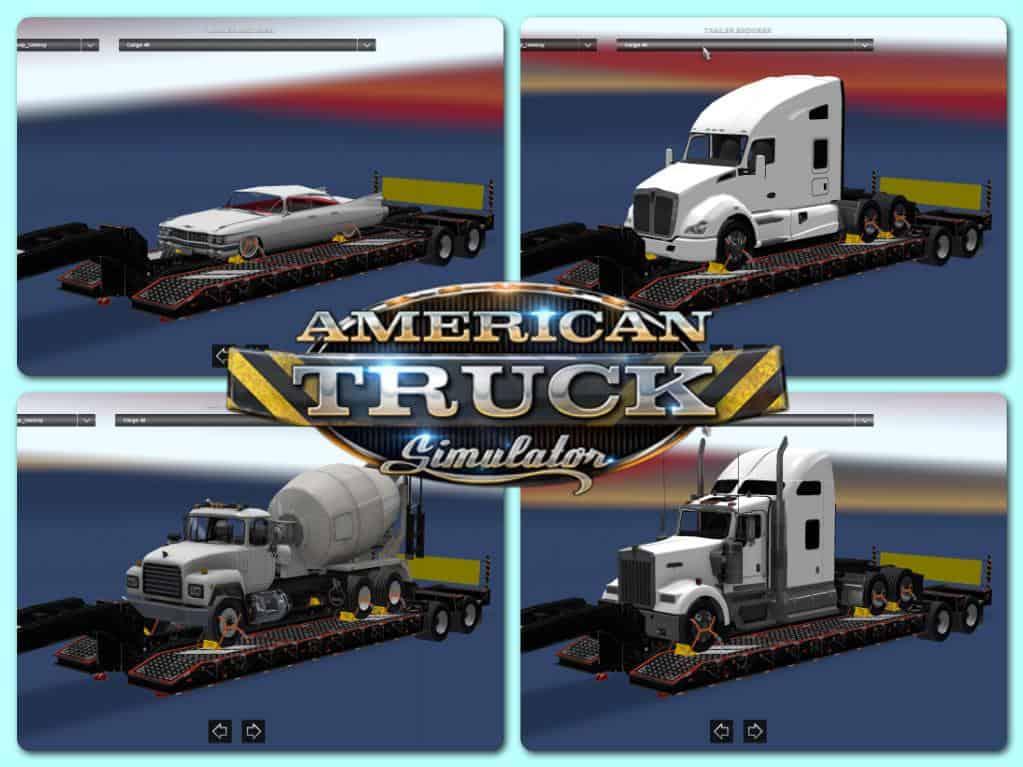 OVERWEIGHT TRAILER PACK V25 MOD American Truck Simulator mod