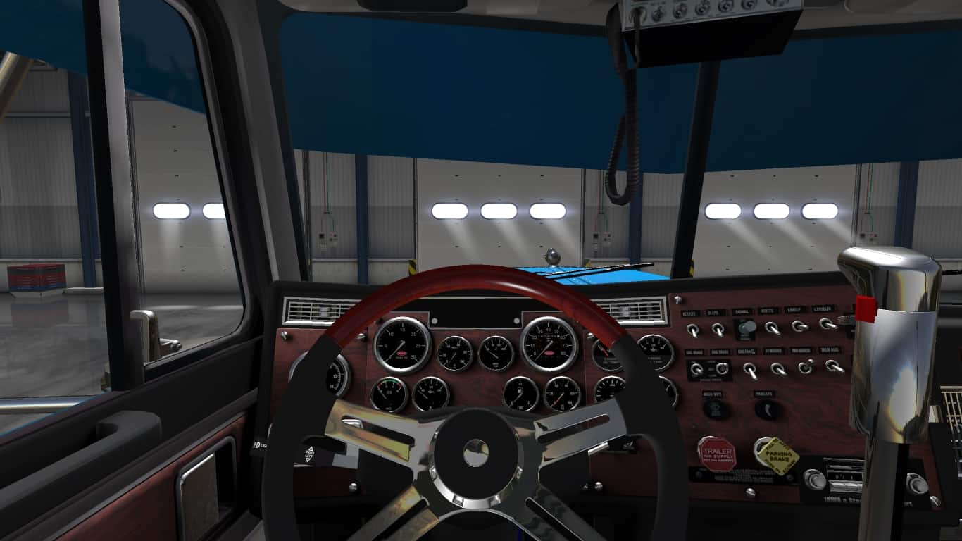 Peterbilt 379 exhd custom mod american truck simulator - Peterbilt 379 interior accessories ...