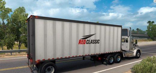 Red Classic box trailer Mod