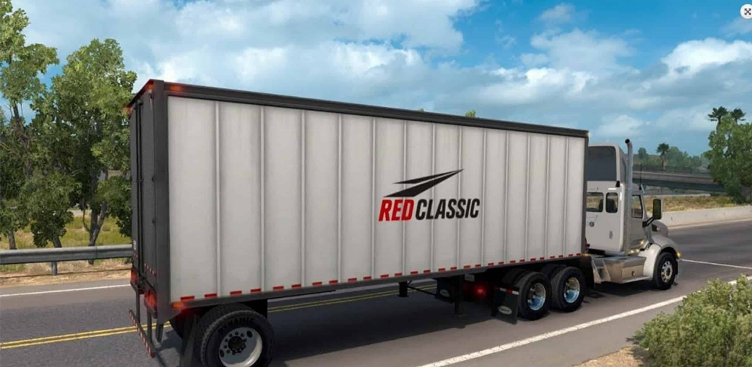 red classic box trailer mod