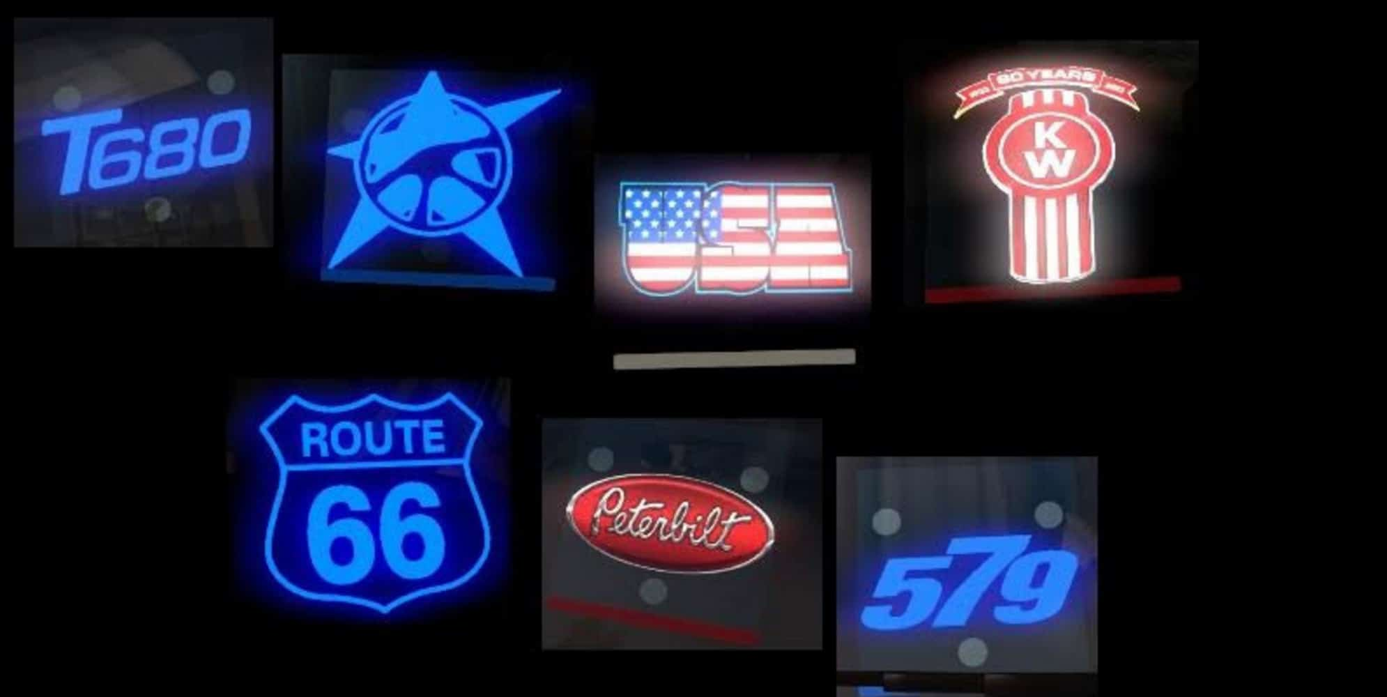 Ats Led Plates Mod American Truck Simulator Mod Ats Mod