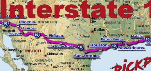 Mexuscan ATS American Truck Simulator Mod ATS Mod - Us interstate 10 map