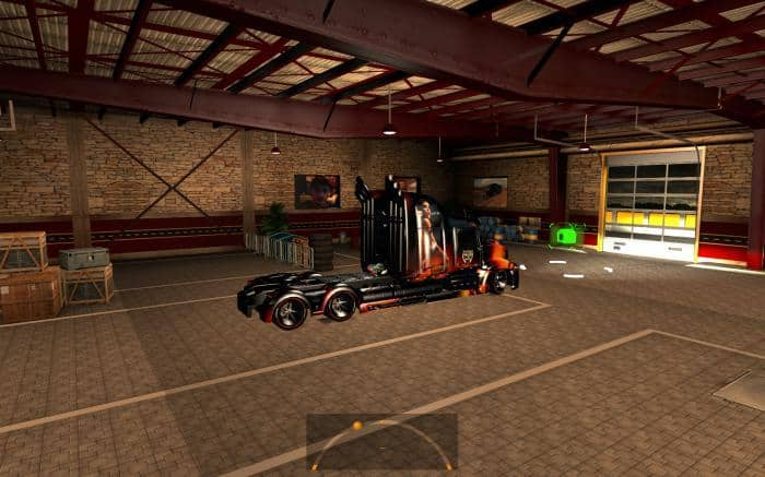 Large garage caterpillar ats 1 4 x mod american truck for How large is a 2 car garage
