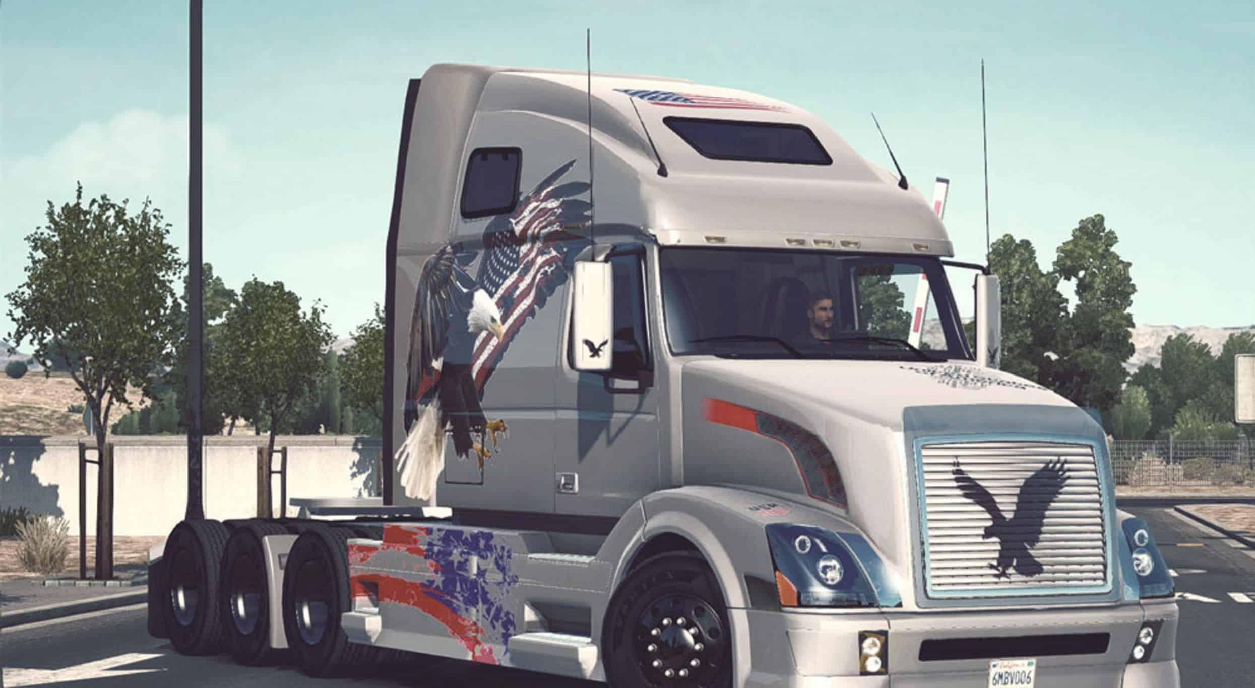 Volvo VNL 670 USA Eagle Skin - American Truck Simulator mod