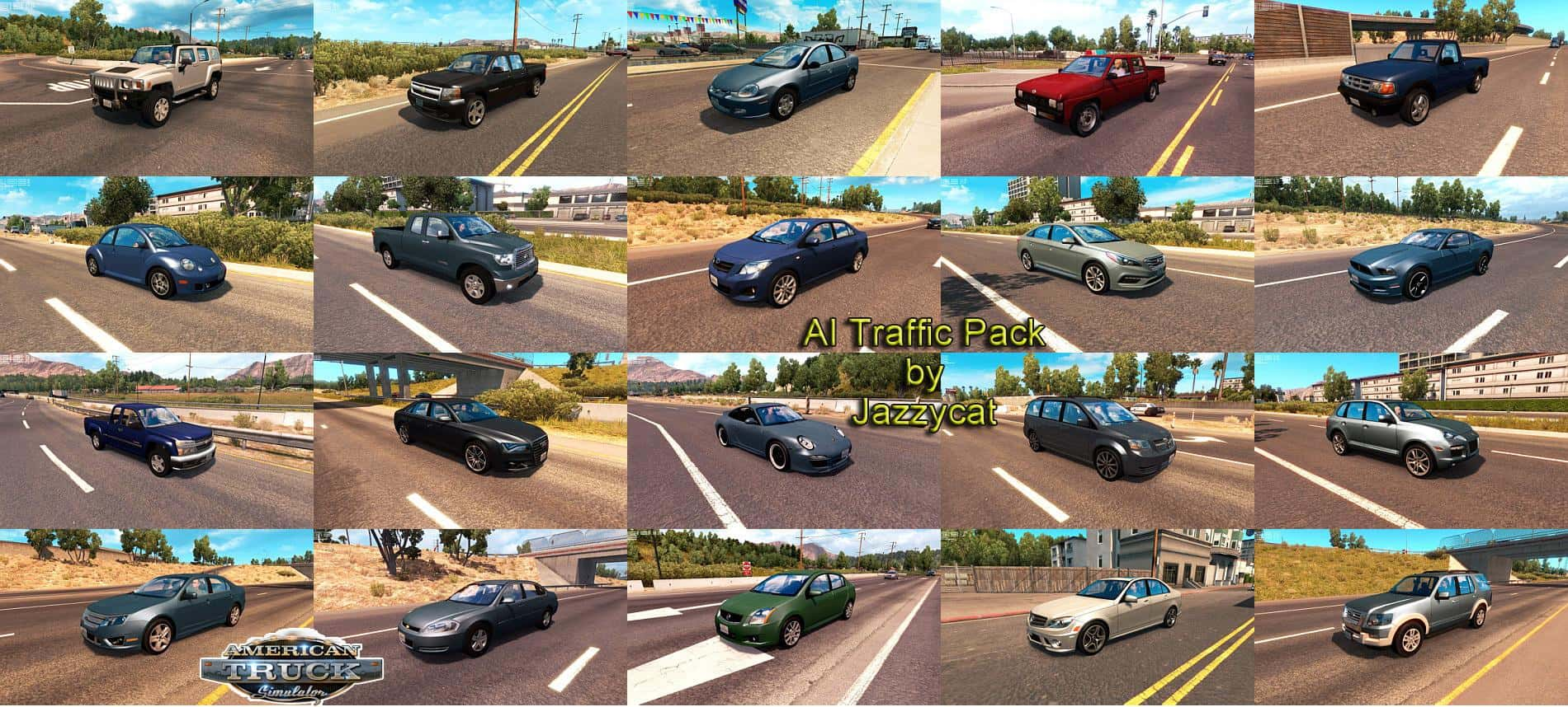 AI TRAFFIC PACK BY JAZZYCAT V1 6 2 MOD - American Truck
