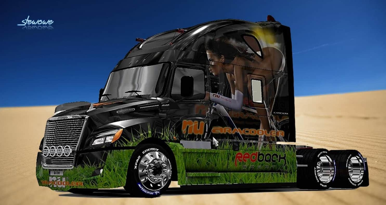 freightliner cascadia 2018 nu armcooler skin mod. Black Bedroom Furniture Sets. Home Design Ideas
