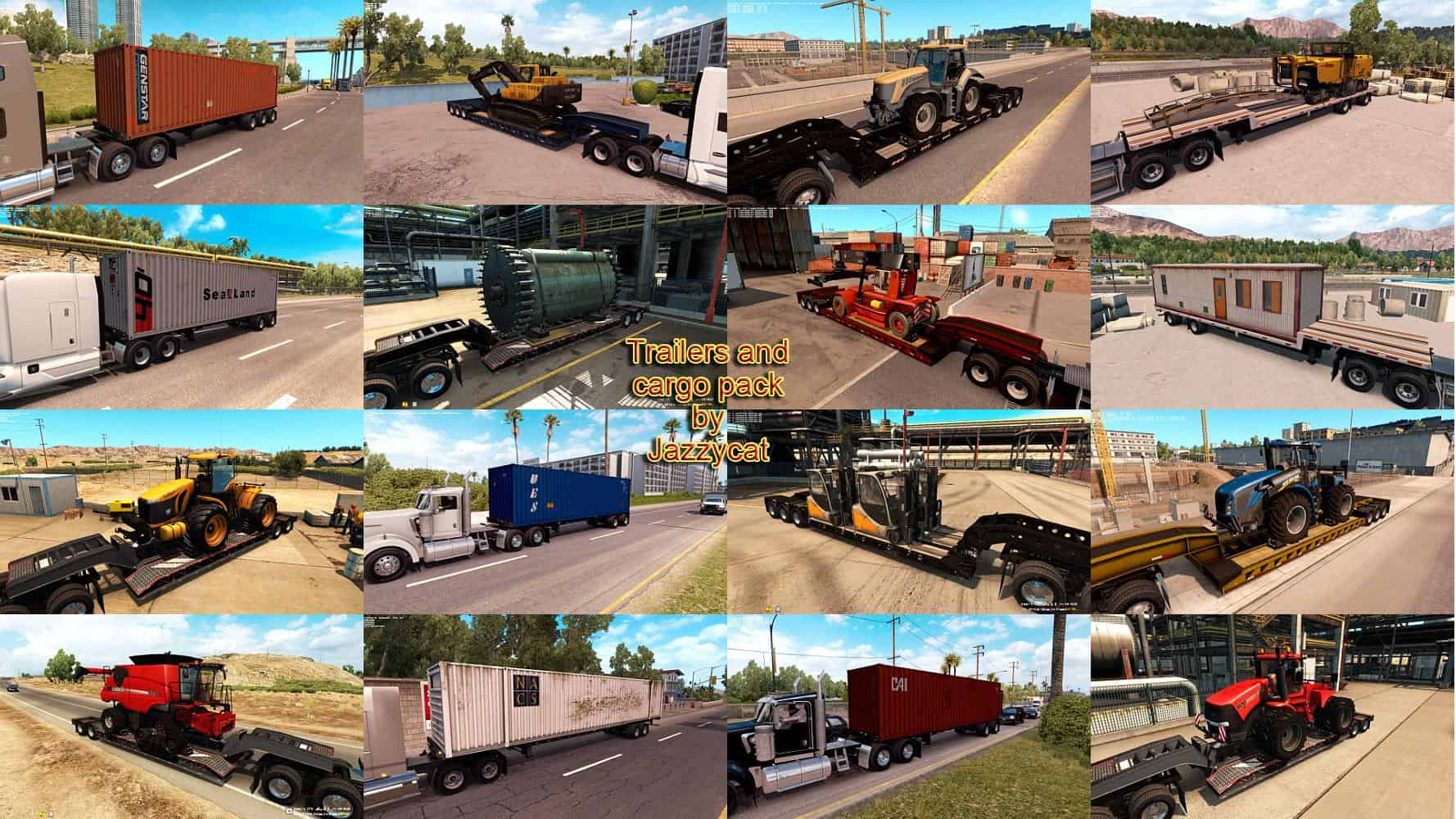 TRAILERS AND CARGO PACK BY JAZZYCAT V1 3 for ATS - American