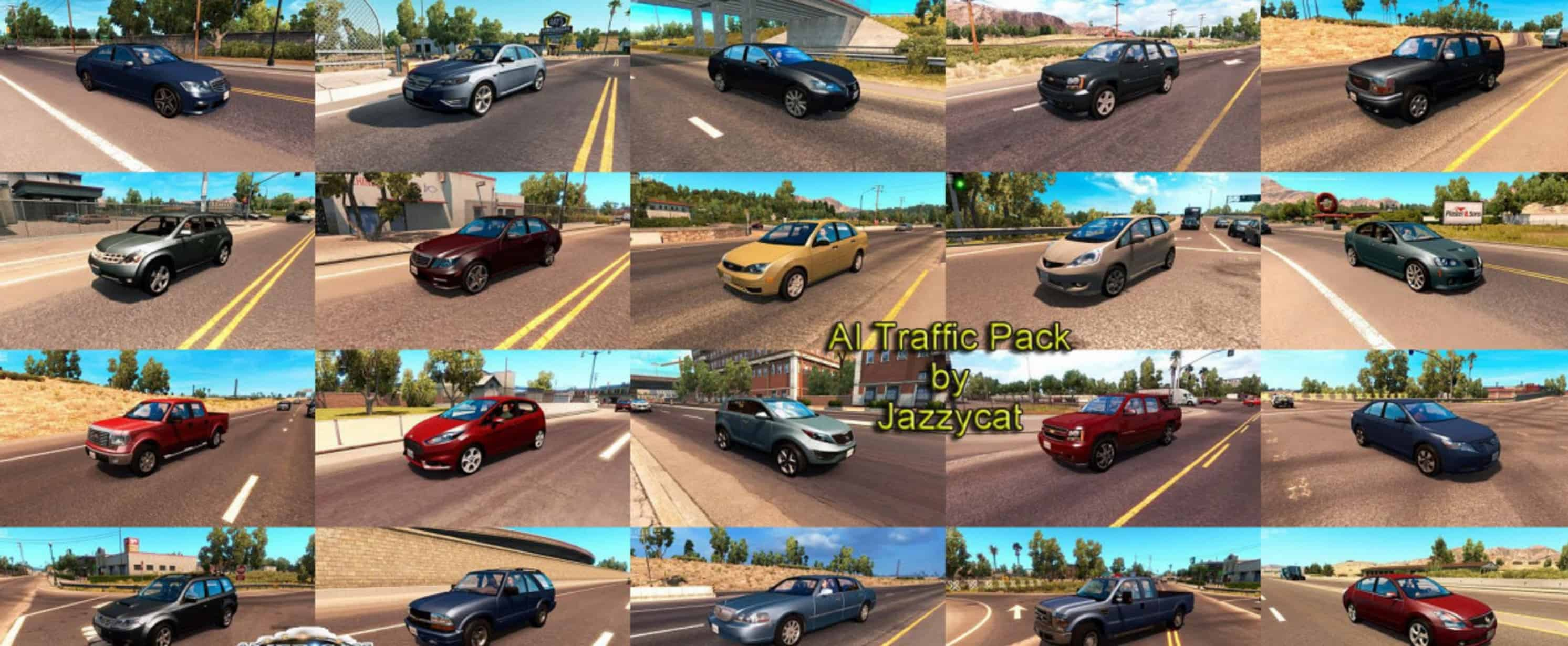 AI Traffic Pack by Jazzycat v1 7 - American Truck Simulator