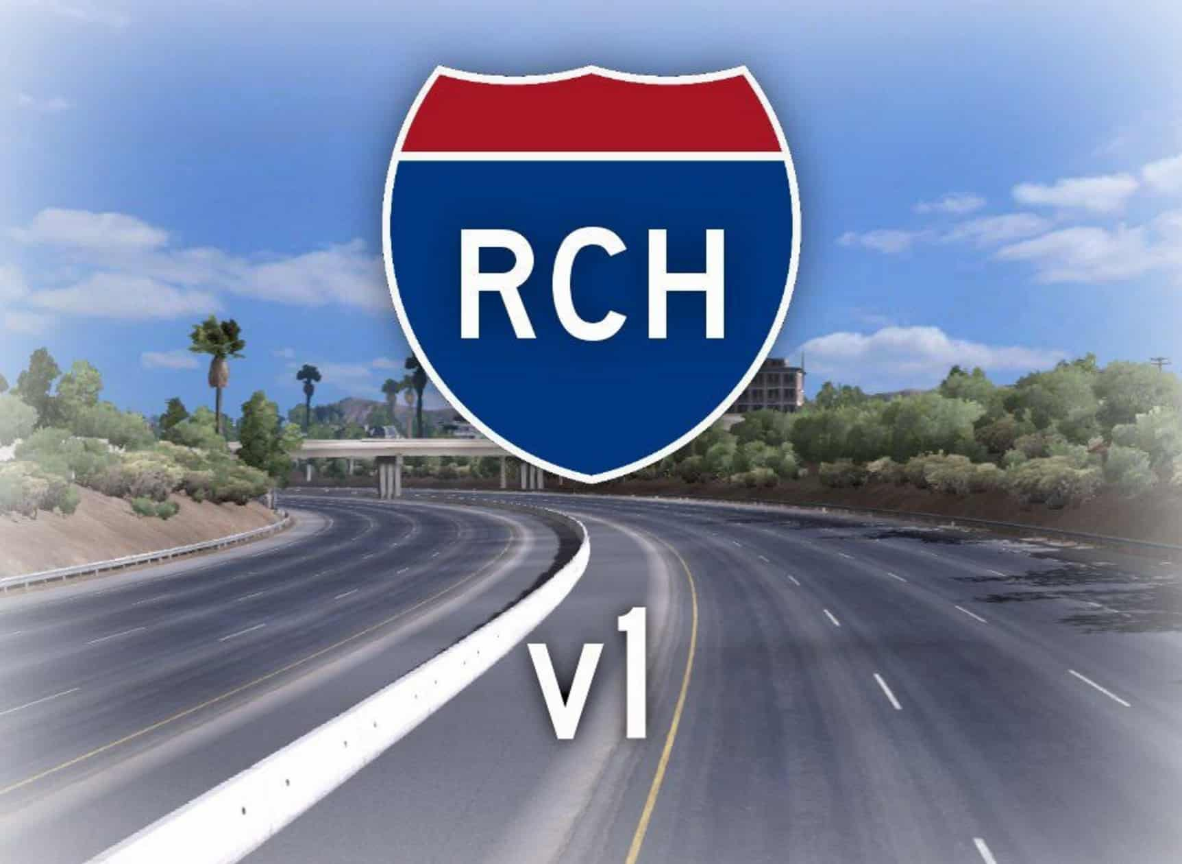 Realistic California Highways v10 Map Realistic California