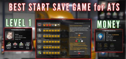 Save Game 100 Completed V 1 2 For Ats American Truck Simulator Mod Ats Mod