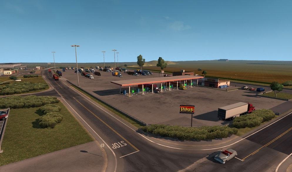 COAST TO COAST MAP V MOD American Truck Simulator Mod ATS Mod - 4 lane highway map of us