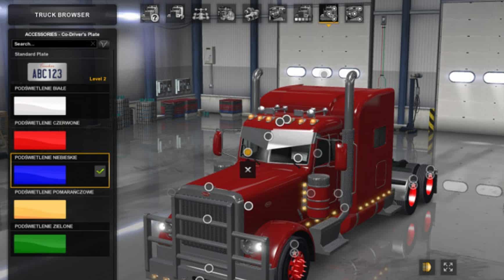 2017 Peterbilt 579 >> The cabin lights ATS 1.5.x mod - American Truck Simulator ...