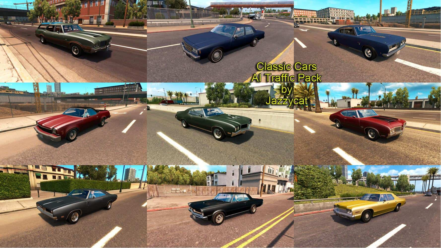 Classic Cars Ai Traffic Pack By Jazzycat V1 3 Fs17