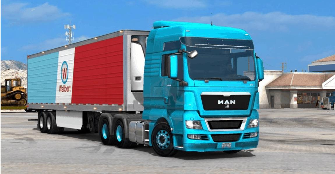 Seat Skins For Trucks >> Man TGX + Interior + New Sound v1.0 (v1.6.x) for ATS mod - American Truck Simulator mod | ATS mod