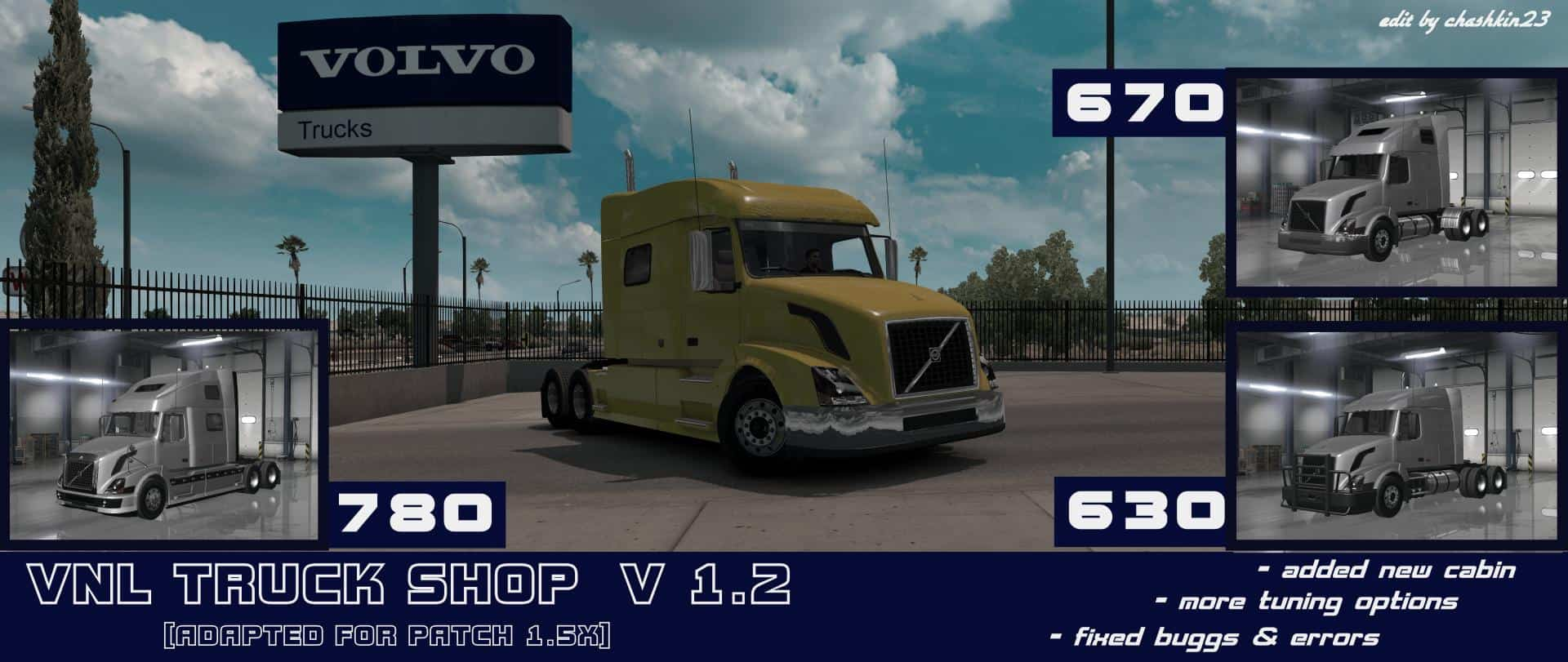 VOLVO VNL TRUCK SHOP v1.2 [1.6.X]
