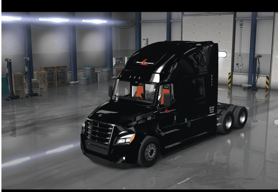 2018 cascadia stevens transport skin ats american truck. Black Bedroom Furniture Sets. Home Design Ideas