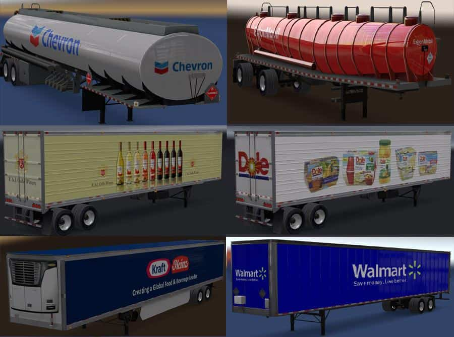 REAL COMPANIES & TRAILERS PACK V1 4 ATS - American Truck