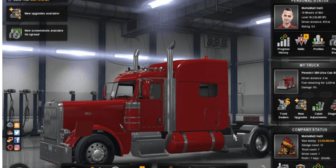 ATS Save game mods | American Truck Simulator Save game mod