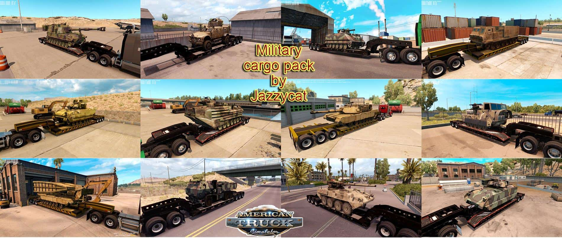 MILITARY CARGO PACK BY JAZZYCAT V1 0 2 ATS - American Truck