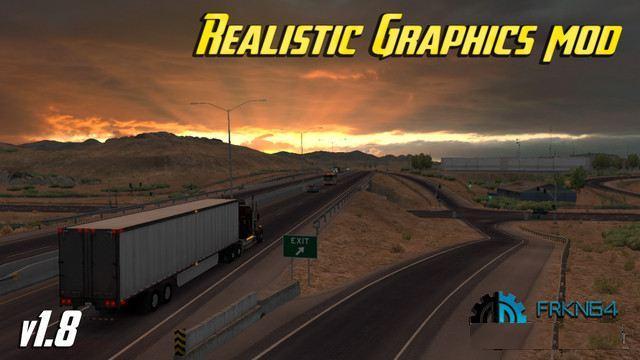 REALISTIC GRAPHICS MOD V1 8 ATS - American Truck Simulator mod | ATS mod