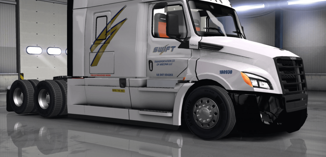 swift for cascadia 2018 ats american truck simulator mod. Black Bedroom Furniture Sets. Home Design Ideas