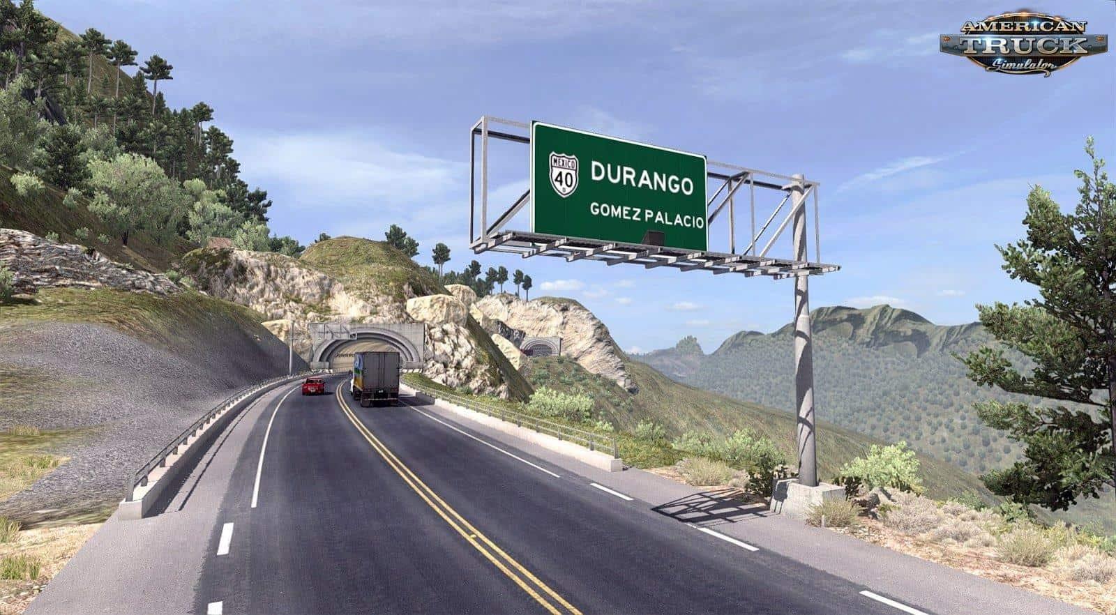 VIVA MEXICO MAP V DURANGO X MOD American Truck - 4 lane highway map of us