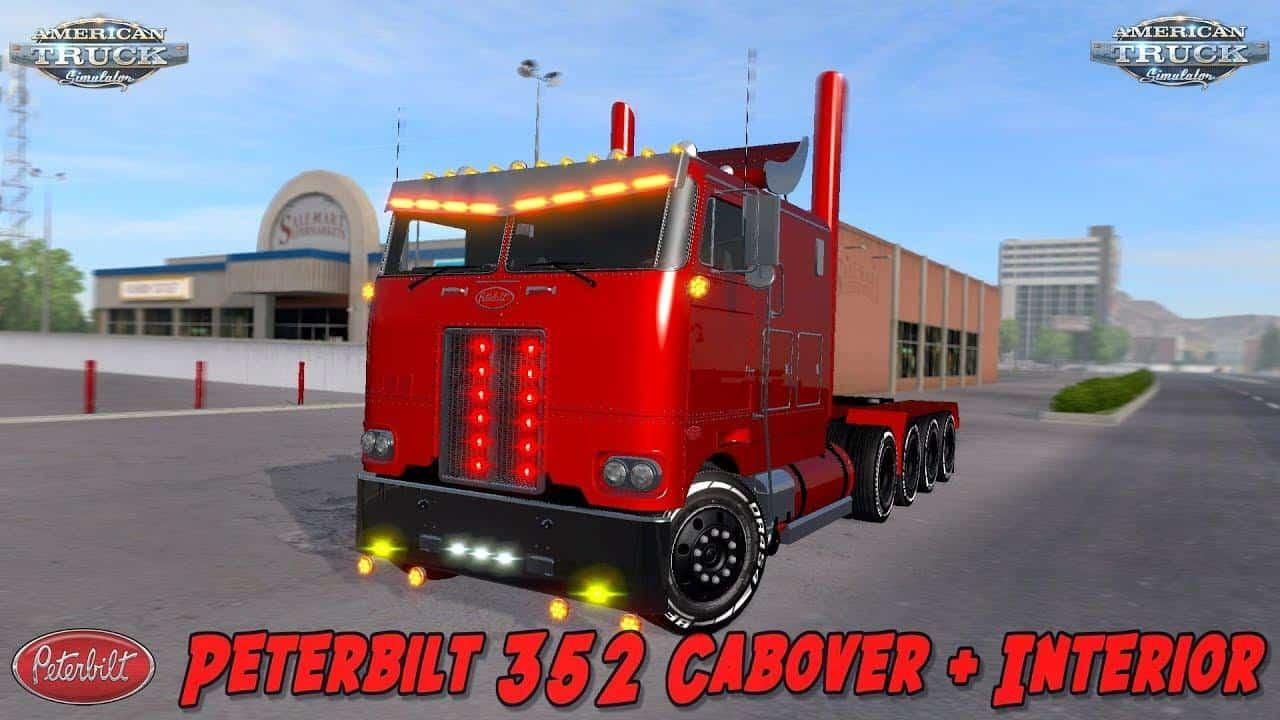 PETERBILT 352 CABOVER + INTERIOR 1 29-1 30 ATS - American Truck