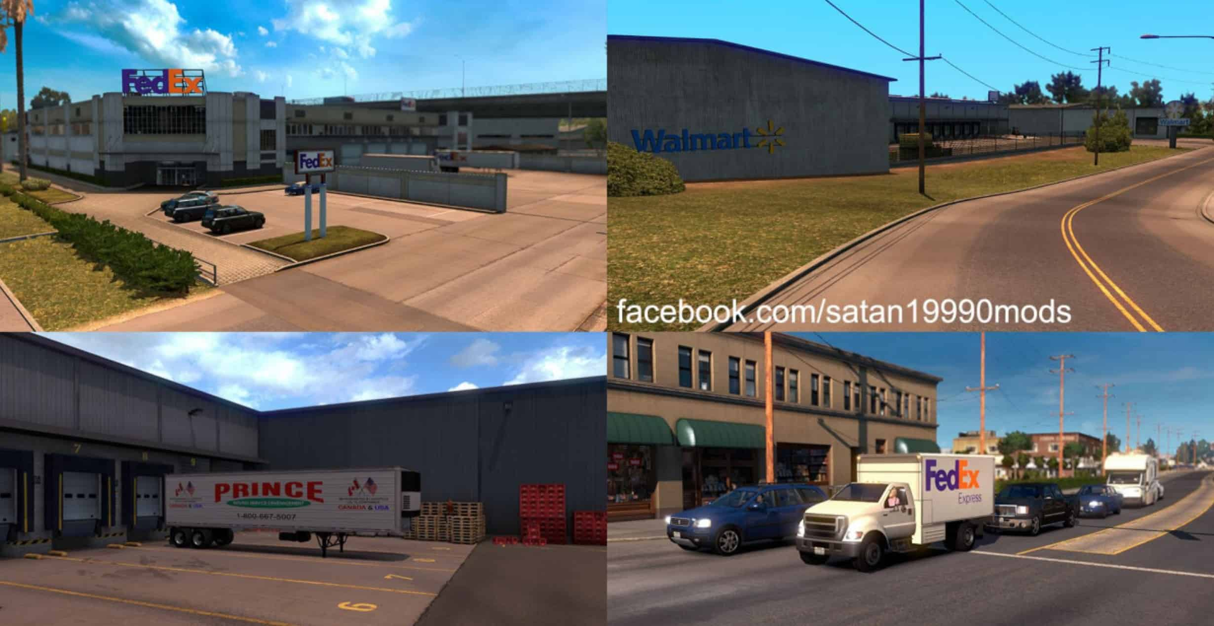 Real Company Mod & Gas Stations Mod - American Truck
