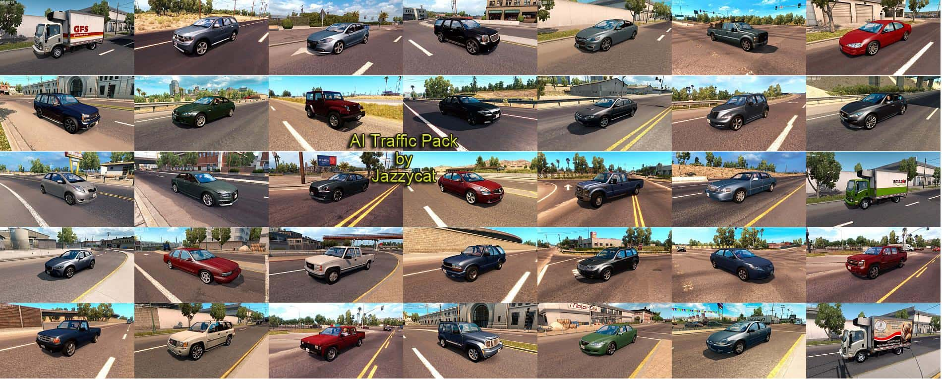 AI TRAFFIC PACK BY JAZZYCAT V4 0 MOD - American Truck