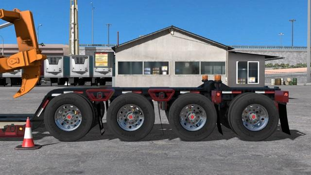 4 Car Hauler >> TRAILER CUSTOM DELOUPE LOWBOY 1.30 MOD - American Truck Simulator mod | ATS mod