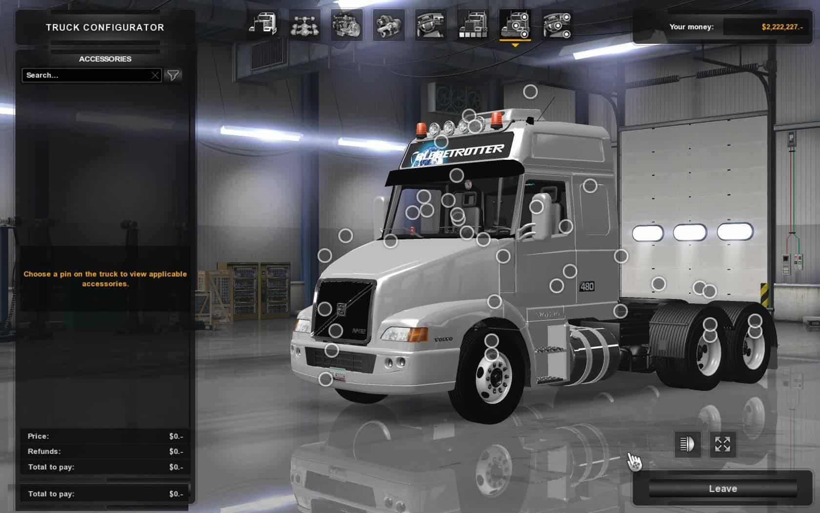 Volvo Dealers Nh >> VOLVO NH12 FOR ATS REWORKED MOD - American Truck Simulator ...