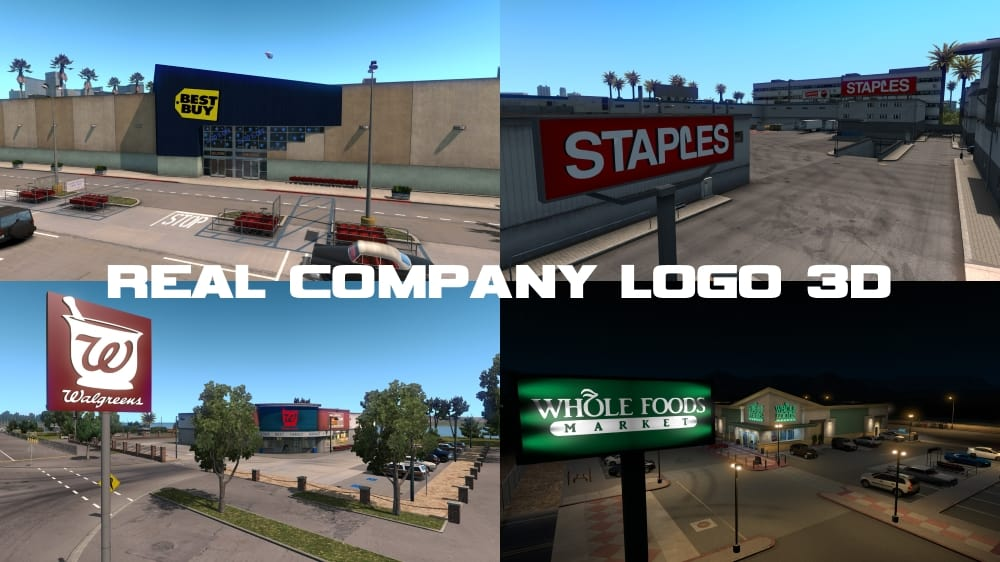 real company logo 3d v 1 1 ats american truck simulator mod ats mod. Black Bedroom Furniture Sets. Home Design Ideas