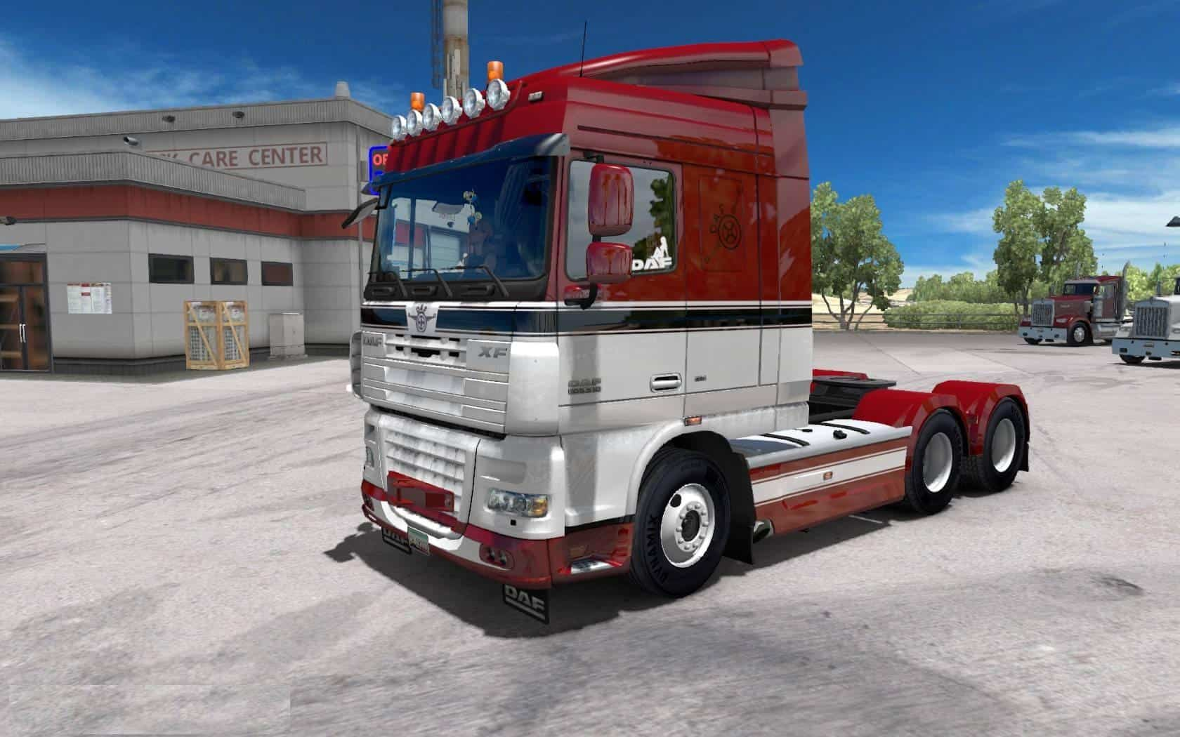daf xf 105 truck crawler ats american truck. Black Bedroom Furniture Sets. Home Design Ideas
