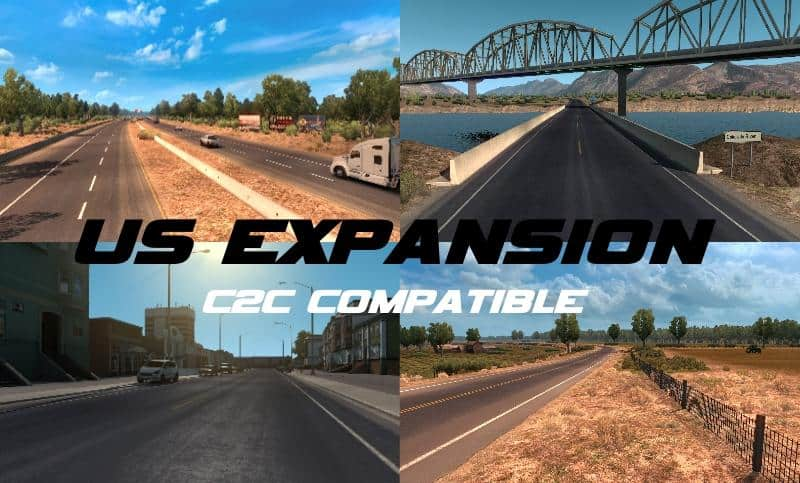 US Expansion Map (C2C Compatible) v2.3.1 ATS - American Truck ...