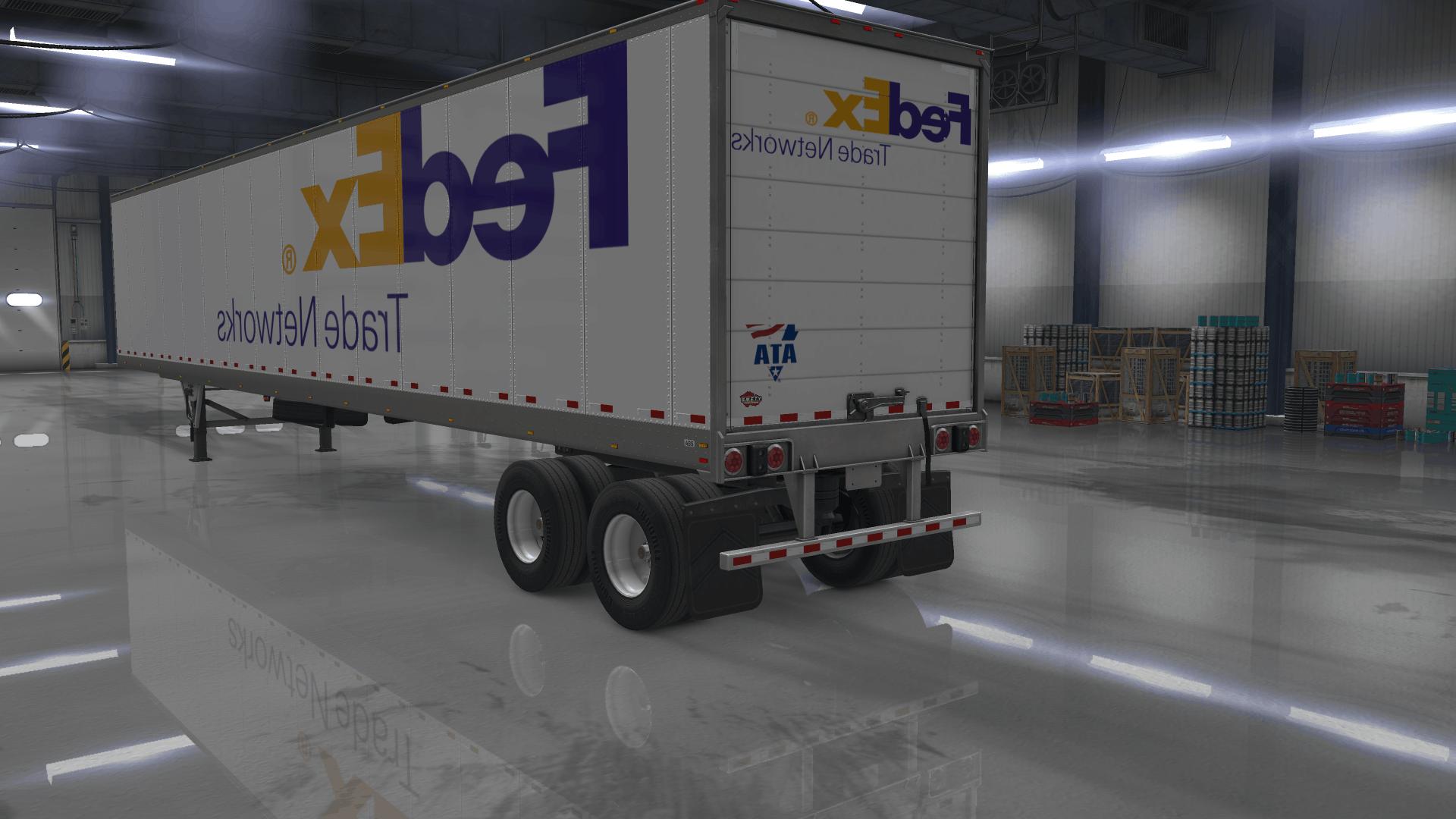 Fedex Trailer Skin Pack 1 32 Ats American Truck Simulator Mod