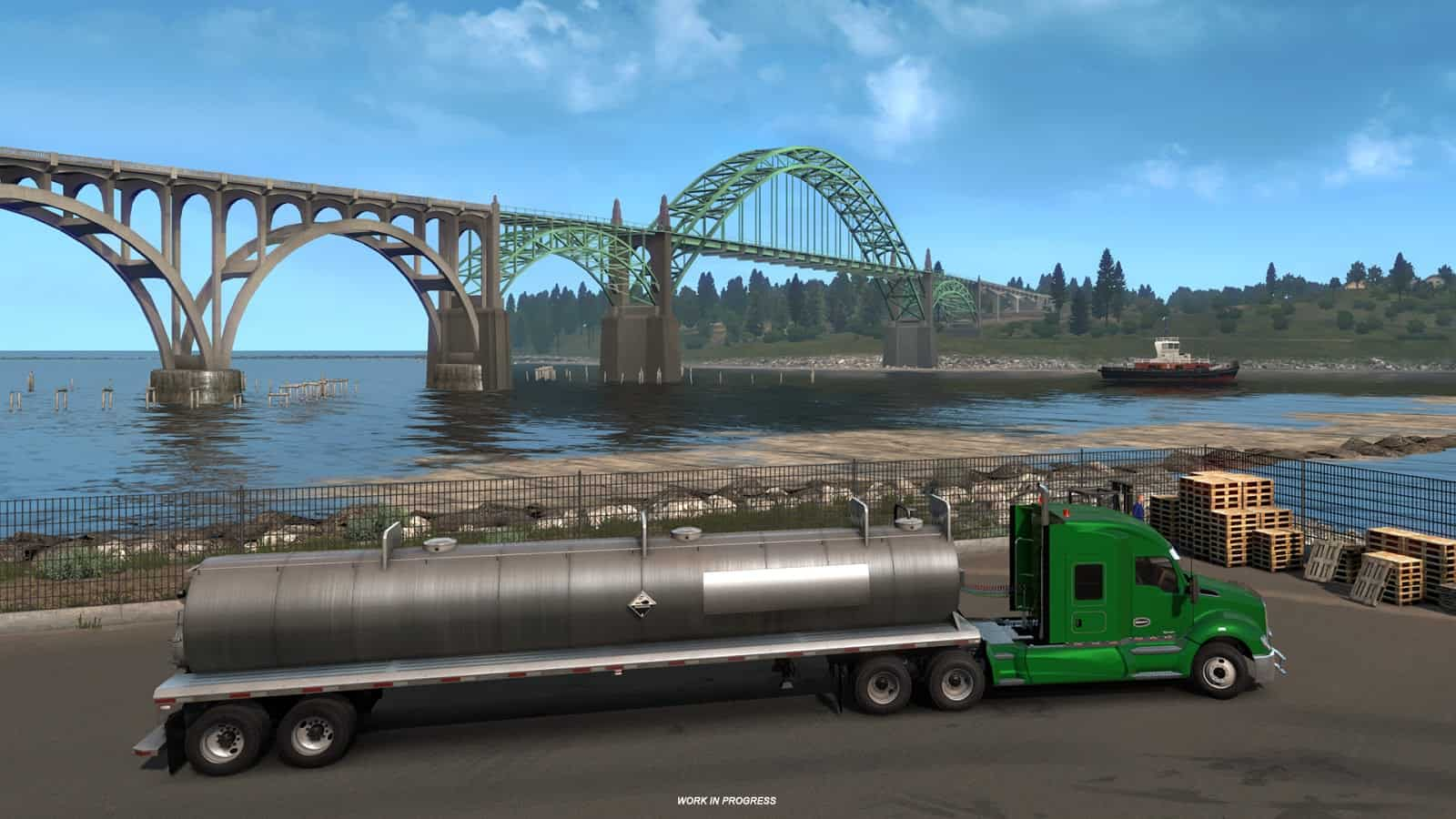 bridges of oregon ats american truck simulator mod ats mod. Black Bedroom Furniture Sets. Home Design Ideas