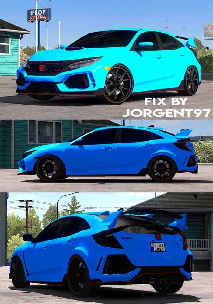 Fix Honda Civic 2017 typeR and Civic Fc5 1 32 ATS - American Truck