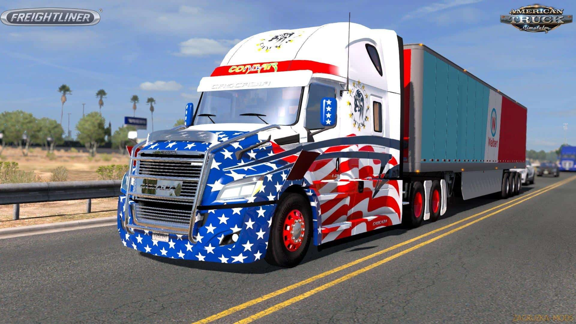 freightliner cascadia 2018 v1 4 1 mod american truck. Black Bedroom Furniture Sets. Home Design Ideas