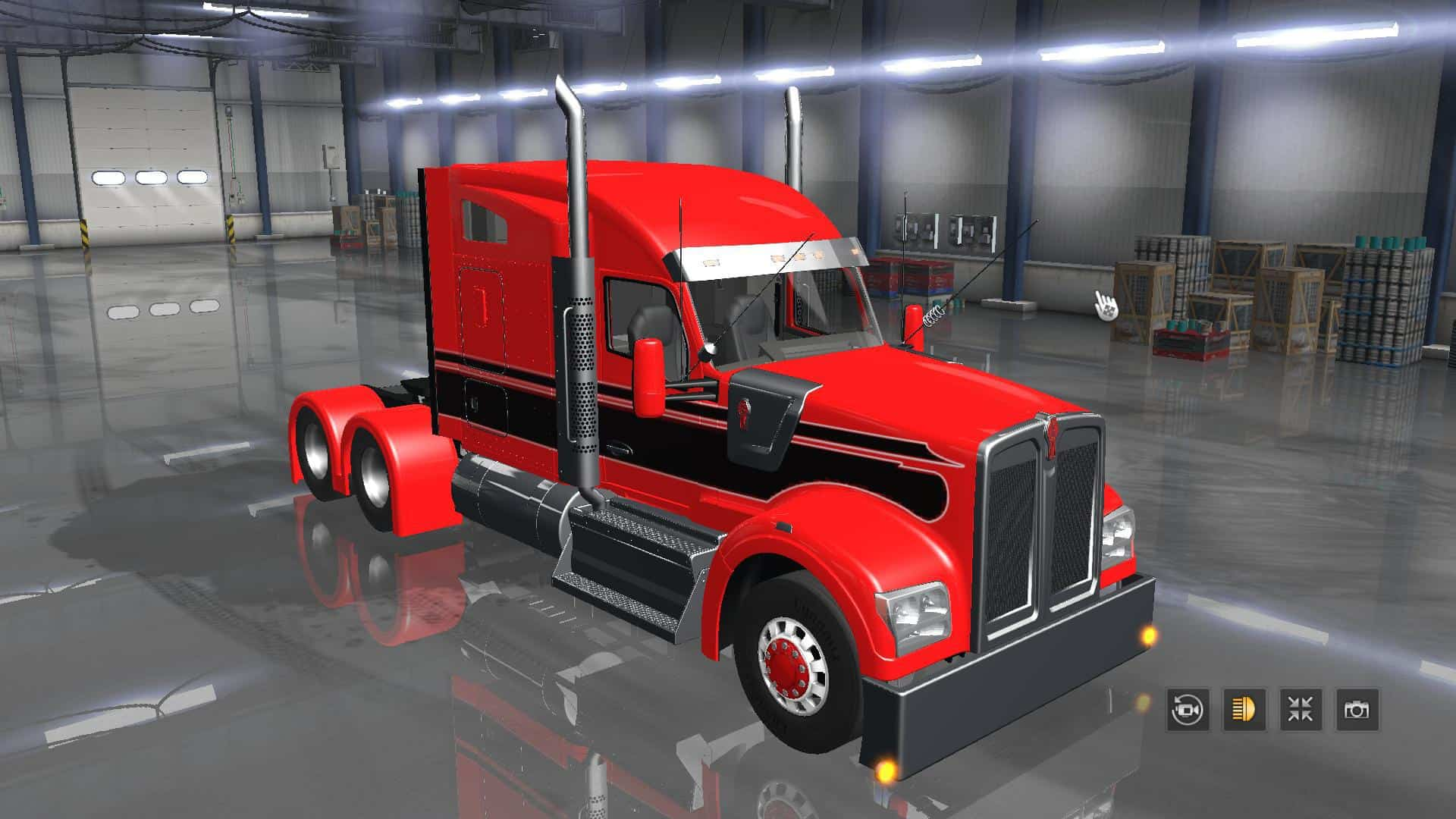 kenworth w990 2018 version american truck simulator. Black Bedroom Furniture Sets. Home Design Ideas