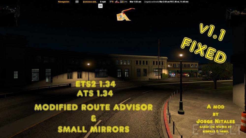 Modified Route Advisor & small Mirrors 1 34 v 1 1 ATS