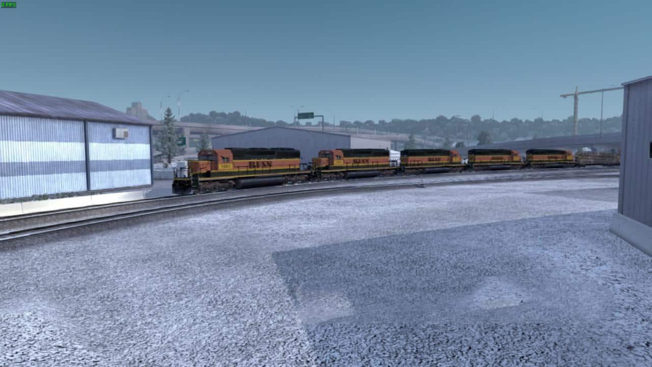 Long Train V3 1 Mod - American Truck Simulator mod | ATS mod