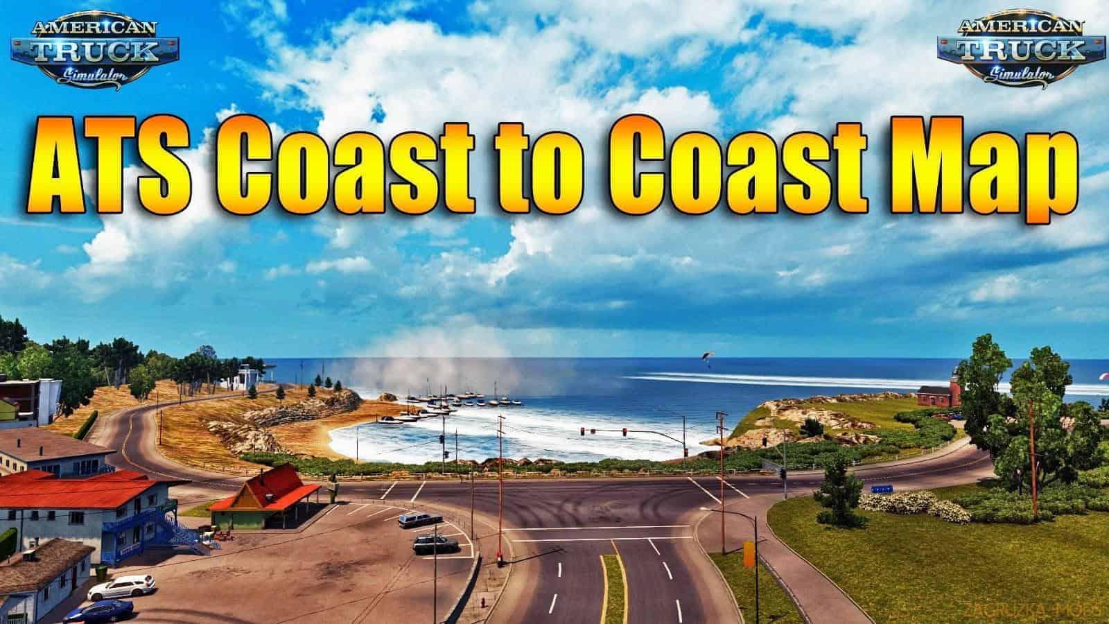 Coast to Coast Map – v2 8 5 ATS - American Truck Simulator