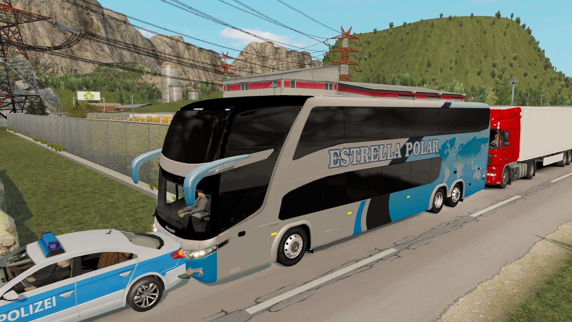 BUS TRAFFIC PACK G7 1 35 ETS2 - American Truck Simulator mod