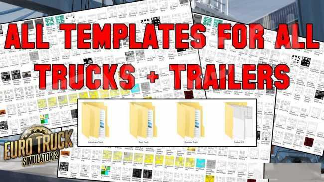 COMPLETE PACK OF TRUCK & TRAILER TEMPLATES 1 35 FOR ETS2