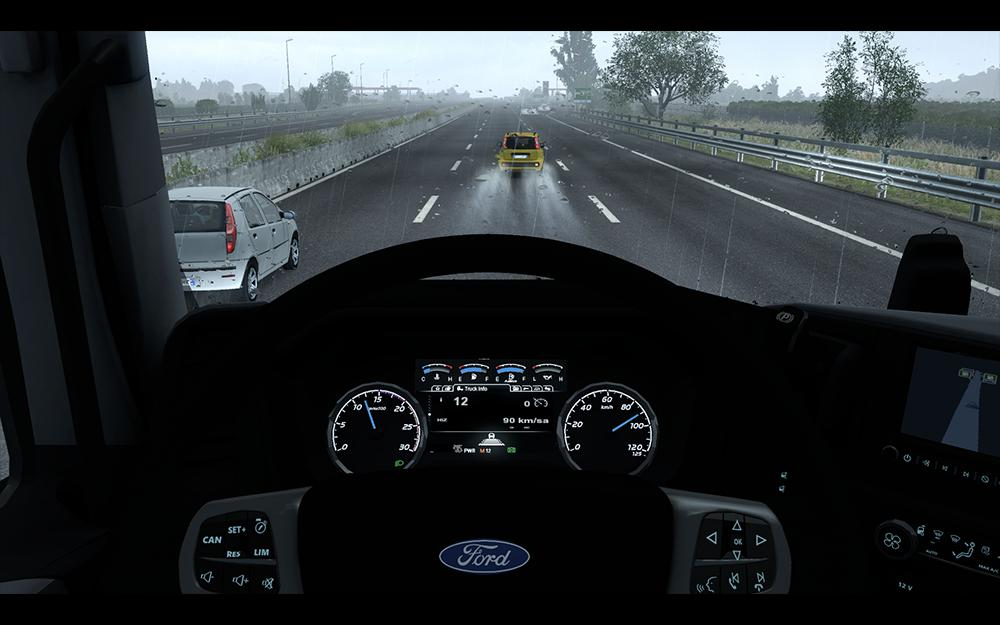 DASHBOARD IMPROVEMENT FOR FORD F-MAX V1 1 ETS2 - American
