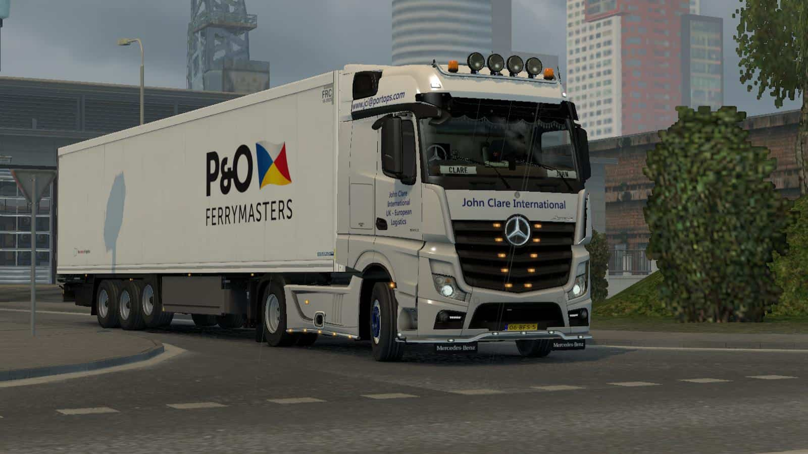 P&O FERRYMASTERS COOLINER 1 35 ETS2 - American Truck